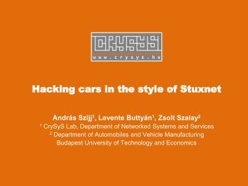 Hacking cars in the style of Stuxnet