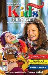 Hampton Roads Kids' Directory Penisula Edition: November 2015