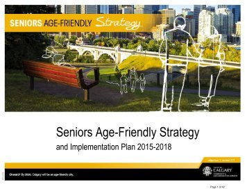 Seniors Age-Friendly Strategy