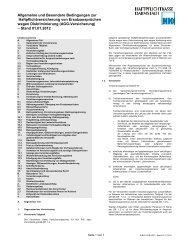 Besondere Bedingungen zur AGG-Versicherung - Haftpflichtkasse ...