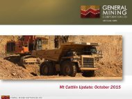Mt Cattlin Update October 2015