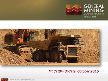 Mt Cattlin Update October 2015