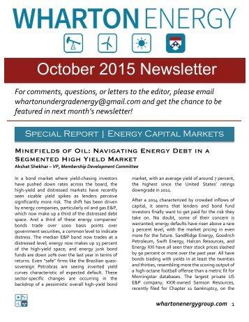 WUEG October 2015 Newsletter