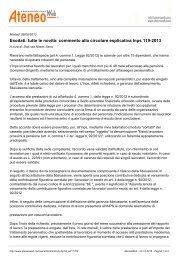 Esodati tutte le novità commento alla circolare esplicativa Inps 119-2013