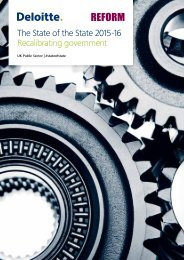 The State of the State 2015-16 Recalibrating government