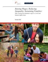 Raising Wages Reducing Inequality Sustaining Families