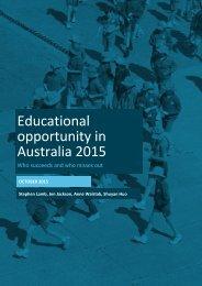 Educational opportunity in Australia 2015