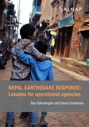 NEPAL EARTHQUAKE RESPONSE Lessons for operational agencies