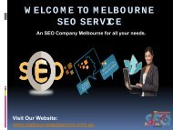 SEO Melbourne | Web Marketing Experts | SEO Company Melbourne