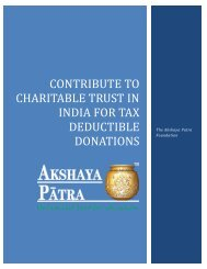 Contribute to Charitable Trust in India for Tax Deductible Donations