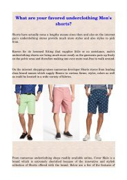 What are your favored underclothing Men's shorts