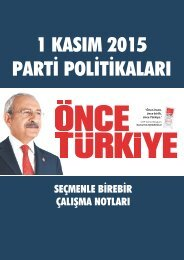 1 KASIM 2015 PARTİ POLİTİKALARI