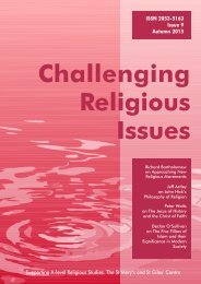 Challenging Religious Issues