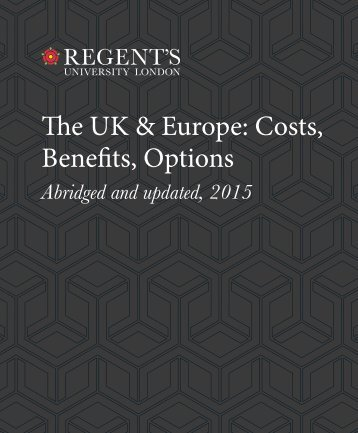 The UK & Europe Costs Benefits Options
