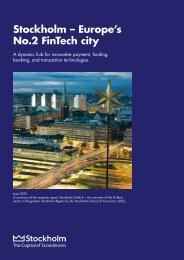 Stockholm – Europe's No.2 FinTech city