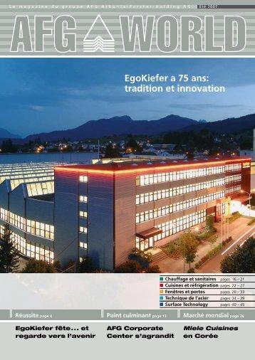 Egokiefer a 75 ans: tradition et innovation