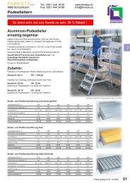 FERESTA GmbH, Podestleitern