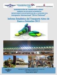Informe Estadístico del Transporte Aéreo de Enero a Setiembre 2015