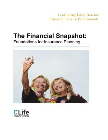 The Financial Snapshot: Foundations of Insurance Planning