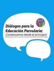 Diálogos para la Educación Parvularia
