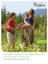 Edelweiss Wagrain summer brochure 2015