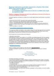 Règlement d'admission à la formation préparatoire ... - IRTS Aquitaine
