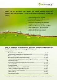 Biotraxx Katalog zum Blättern - Nur das Beste aus der Natur -