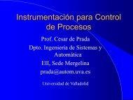Instrumentación para Control de Procesos