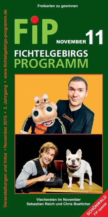 Fichtelgebirgs-Programm - November 2015