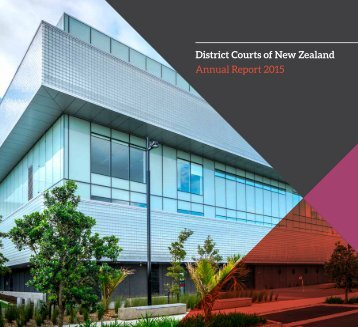 District Courts of New Zealand Annual Report 2015
