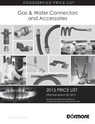 Gas & Water Connectors and Accessories