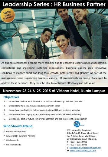 Leadership Series  HR Business Partner