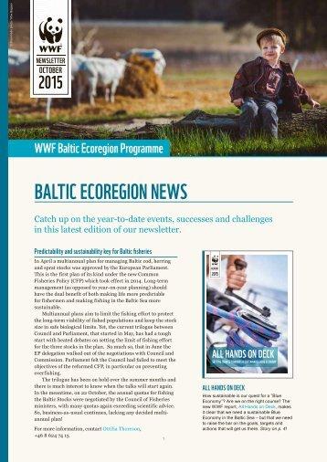 BALTIC ECOREGION NEWS