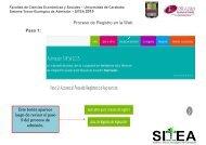 Proceso de Registro en la Web Paso 1: Este botón ... - SITEA 2013