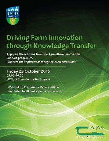 Driving Farm Innovation through Knowledge Transfer