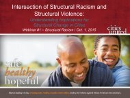 Intersection of Structural Racism and Structural Violence