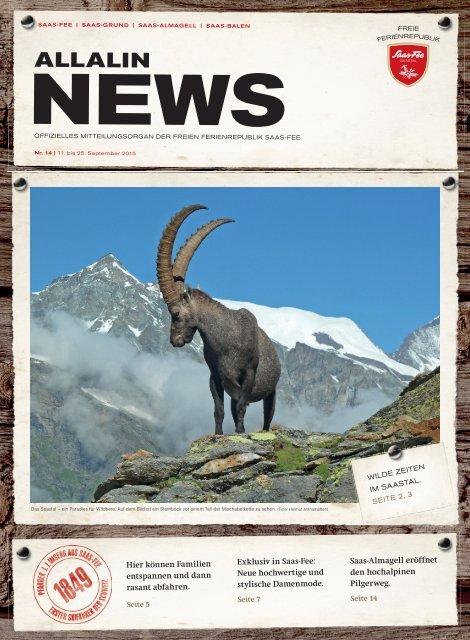 Allalin News Nr. 14 - SAAS-FEE | SAAS-GRUND | SAAS-ALMAGELL | SAAS-BALEN