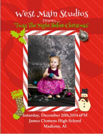 Christmas Show Program Book 2014