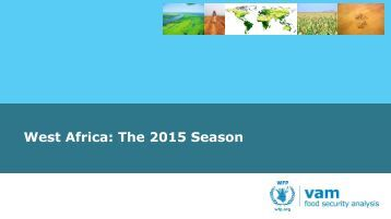 West Africa The 2015 Season