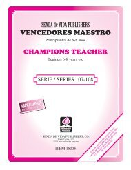 SENDA de VIDA PUBLISHERS VENCEDORES MAESTRO CHAMPIONS TEACHER