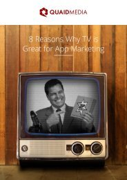 8 Reasons Why TV is Great for App Marketing