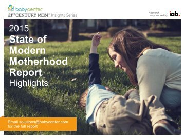 Modern Motherhood Report