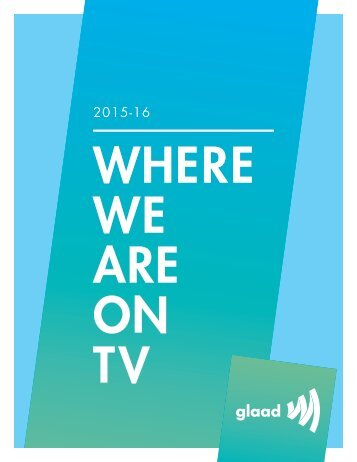 WHERE WE ARE ON TV