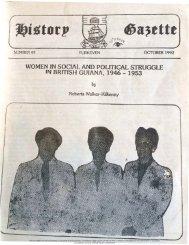 Women in Social and Political Struggle in British Guiana,1946-1953