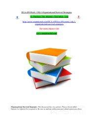 HCA 459 Week 1 DQ 1 Organizational Survival Strategies/snaptutorial