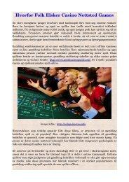 Hvorfor Folk Elsker Casino Nettsted Games