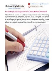 Accounting Outsourcing Services for Small-Mid Size Businesses
