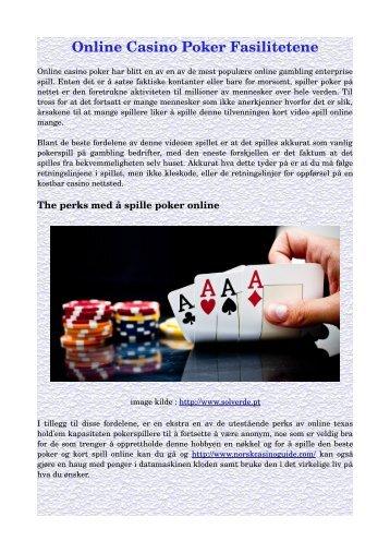 Online Casino Poker Fasilitetene