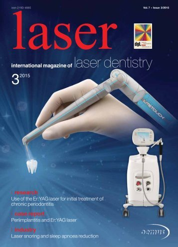 laser – international magazine of laser dentistry No. 3, 2015