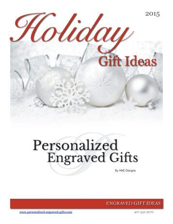 Holiday Ideas Book from Personalized-Engraved-Gifts.com